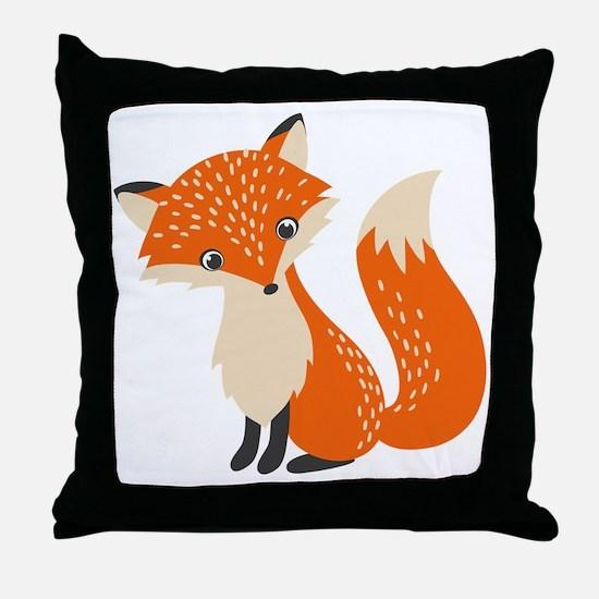 Cute Cute fox Throw Pillow