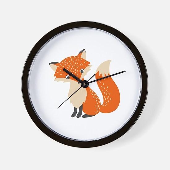 Cute Cute fox Wall Clock