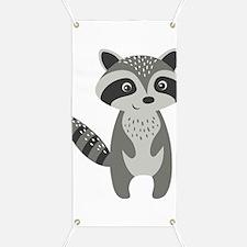 Cute Raccoon Banner