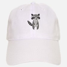 Cute Cartoon Raccoon Illustration Gray And Whi Baseball Baseball Cap