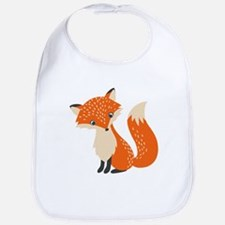 Cute Red Fox Cartoon Illustration Bib