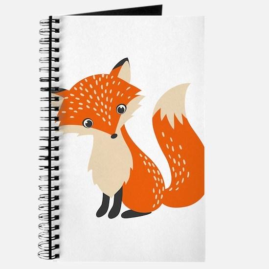 Cute Red Fox Cartoon Illustration Journal