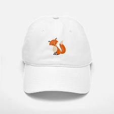 Cute Red Fox Cartoon Illustration Baseball Baseball Cap