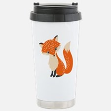 Cute Red Fox Cartoon Il Travel Mug