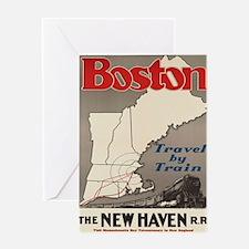Funny Vintage boston Greeting Card