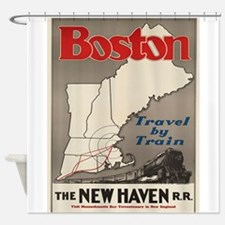 Vintage poster - Boston Shower Curtain