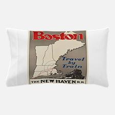 Vintage poster - Boston Pillow Case