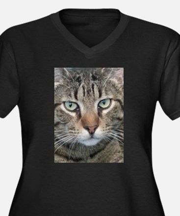 Brown Tabby Cat Plus Size T-Shirt