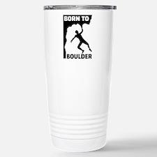 Born to Boulder Stainless Steel Travel Mug