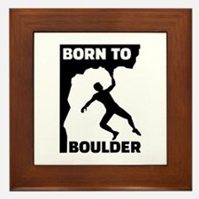 Born to Boulder Framed Tile