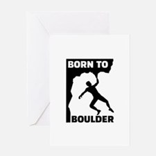 Born to Boulder Greeting Card