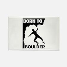Born to Boulder Rectangle Magnet