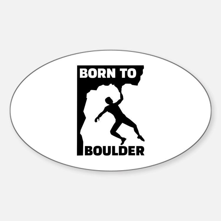 Born to Boulder Decal