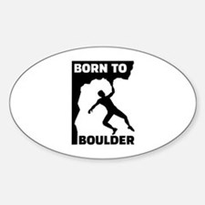 Born to Boulder Sticker (Oval)