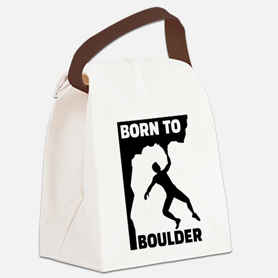 Born to Boulder Canvas Lunch Bag