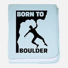 Born to Boulder baby blanket