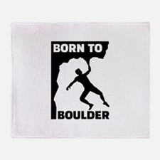 Born to Boulder Throw Blanket