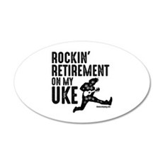 Rockin Retirement Uke Wall Decal