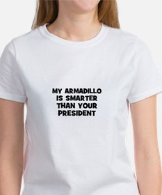 my armadillo is smarter than Women's T-Shirt