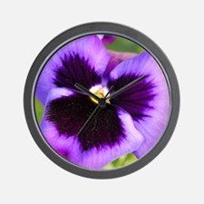 Cute Pansy flower Wall Clock