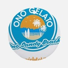Ono Sandy Beach Round Ornament
