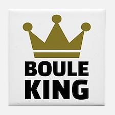 Boule king champion Tile Coaster