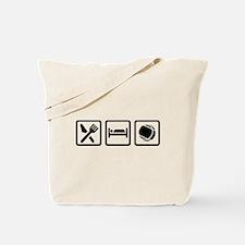 Eat sleep Boule Tote Bag