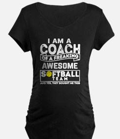 Funny Softball coach T-Shirt