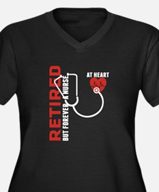 Retired Nurse Heart Plus Size T-Shirt