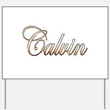 Gold Calvin Yard Sign