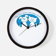 Cute Adopt shelter get a life Wall Clock