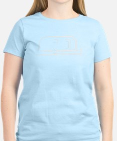 Airstream_22_outline_white_300ppi T-Shirt