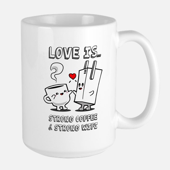 Strong Coffee and Strong WiFi Mugs