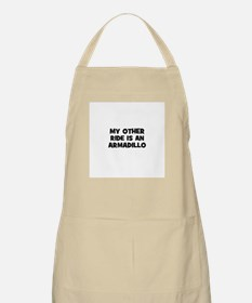 my other ride is an armadillo BBQ Apron