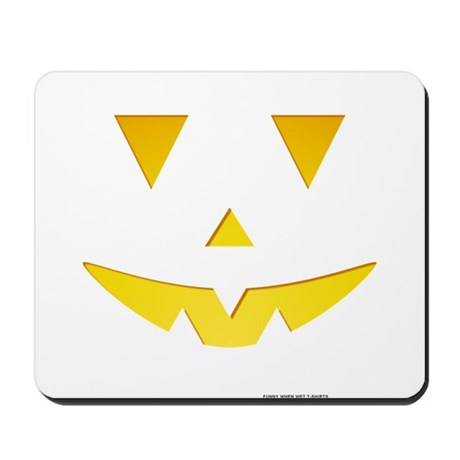 Smiley Pumpkin Face Mousepad