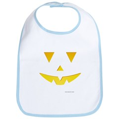Smiley Pumpkin Face Bib