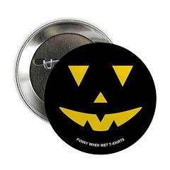 Smiley Pumpkin Face Button