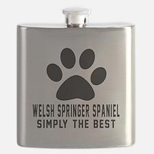 Welsh Springer Spaniel Simply The Best Flask