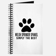 Welsh Springer Spaniel Simply The Best Journal