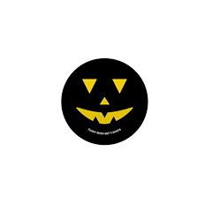 Smiley Pumpkin Face Mini Button (10 pack)