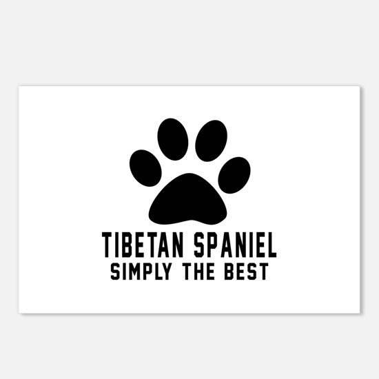 Tibetan Spaniel Simply Th Postcards (Package of 8)
