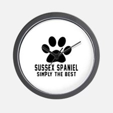 Sussex Spaniel Simply The Best Wall Clock