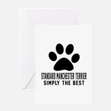 Standard Manchester Terrier Simply T Greeting Card