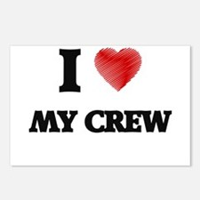 I love My Crew Postcards (Package of 8)