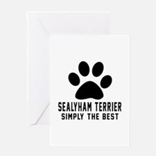 Sealyham Terrier Simply The Best Greeting Card