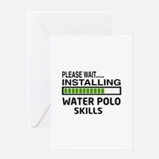 Please wait, Installing Water Polo S Greeting Card
