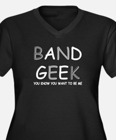 Want to be a Band Geek Women's Plus Size V-Neck Da