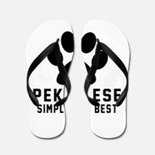 Pekingese Simply The Best Flip Flops
