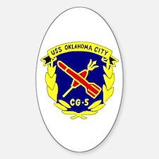 USS Oklahoma City (CG 5) Oval Decal