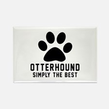 Otterhound Simply The Best Rectangle Magnet